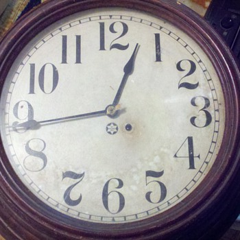 "New Haven dial clock (about 17"" clock face) - Clocks"