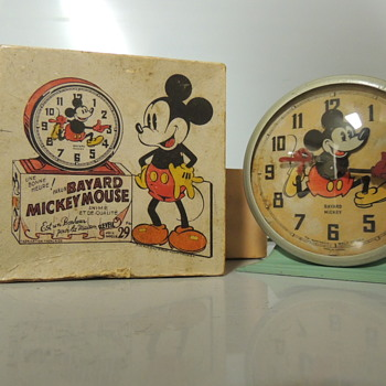 1930s BAYARD MICKEY MOUSE CLOCK - Clocks