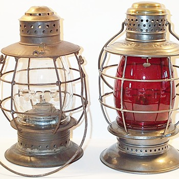 ERIE Railway Co. Railroad Lanterns - Railroadiana