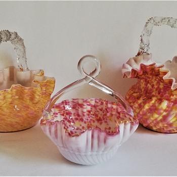 Three Welz Baskets, One Décor - Art Glass