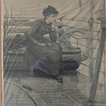Daisy Miller' by Henry James. Daisy Miller aboard a ship in a scene from the novel - Books