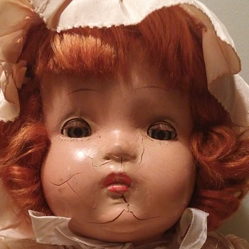 "19"" composition doll no markings"