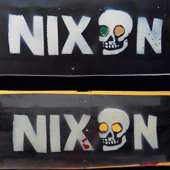 1972 Miami Republican Convention used hand made ANTI-NIXON Protest Sign. - Politics