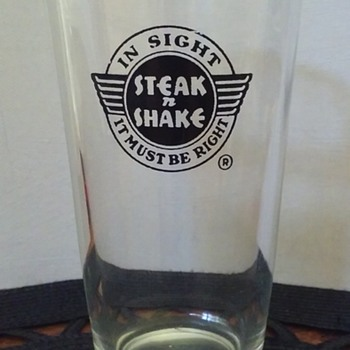 original STEAK N SHAKE restaurant glassware