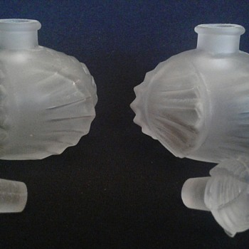 Possible  René Lalique Perfume Bottles  - Art Glass