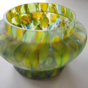 Mom & Dad's Green Posey Vase - Art Glass