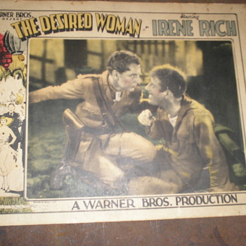 1928 The Desired Woman Lobby Card - Movies