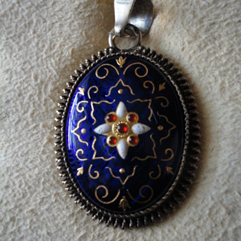 Vintage French Blue Bresse Enamel on Silver - Fine Jewelry