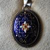 Vintage French Blue Bresse Enamel on Silver