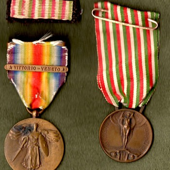 US Victory medal w/Vittorio-Veneto clasp - 332nd Infantry veteran medals - Military and Wartime