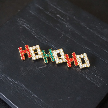 Rhinestone HOHOHO Pin - Costume Jewelry