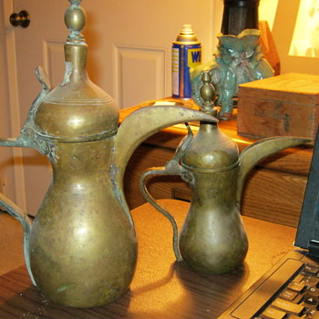 oil lamps made of brass