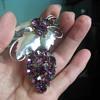 Sterling Silver Purple Brooch Pendant