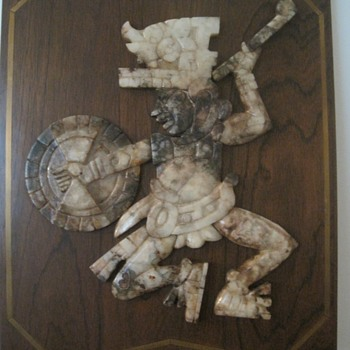 South American (Mexican) Carved Onyx Warrior - Fine Art