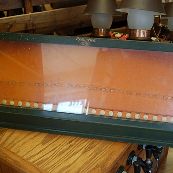 1930s Remington Dupont Counter top Knife Display Case - Advertising