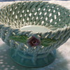 Woven Basket With Roses