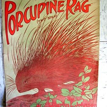 PORCUPINE RAG. OBSCURE CHAS JOHNSON INSTRUMENTAL RAG. 1909 - Music Memorabilia