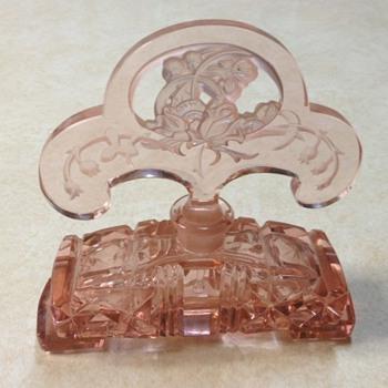 Large pink czech perfume