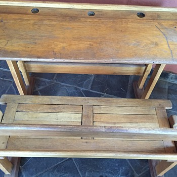Old School Desk - Furniture