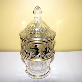 Rare Art Deco -Wiener Werkstatte? Glass lidded bowl - Art Deco