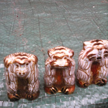 My cloisonne monkey's - Asian