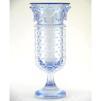 A Jory diatreta cage cup - Art Glass
