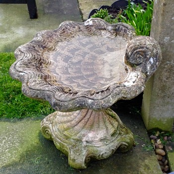 Scallop Shape stone garden feature.