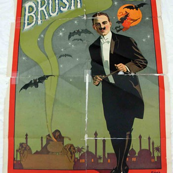 "Original ""Brush The Great"" Stone Lithograph Poster"