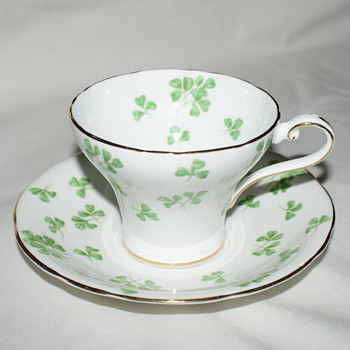 Aynsley Shamrock Cup and Saucer - China and Dinnerware