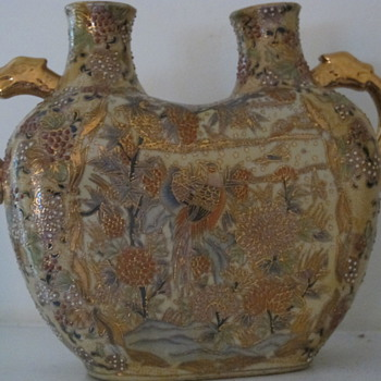 Double spout hand painted with gold handles - China and Dinnerware
