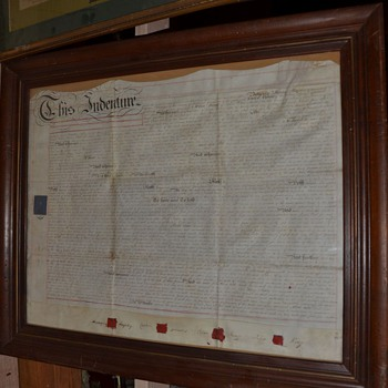 Antique Colonial Slave Sale Contract signed in Blood and Taxed