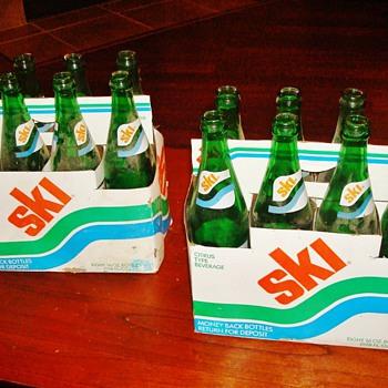 Ski (Citrus Beverage) Soda Bottles - Bottles