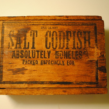 Salt Cod Wooden Box - Advertising