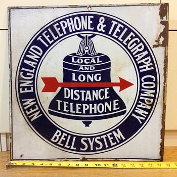 """N.E.T.&T """"Arrow"""" sign - Telephones"""