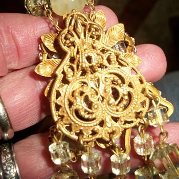 My flea market find.  - Costume Jewelry