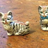 Antique ceramic kittens