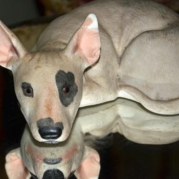Porcelain English Bull Terrier - Figurines