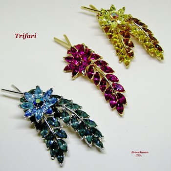 Trifari Brooch Set - Constellation Collection - Costume Jewelry