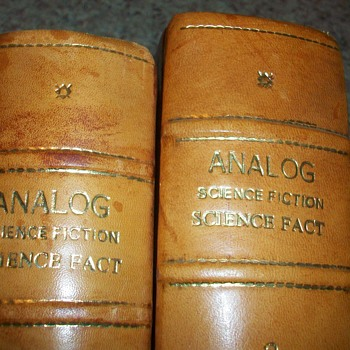 LEATHER BOUND ANALOG SCIENCE FICTION SCIENCE FACT BOOKS