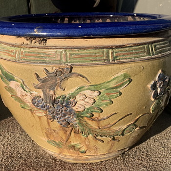 Large Chinese Planter - Fahua? Shiwan? - Asian