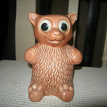 1950s/60's teddy bear piggy bank - Pottery