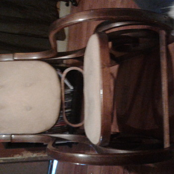 Old rocking chair was given by a neighbor very unusual