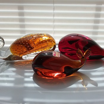 The glass whales of August  - Art Glass