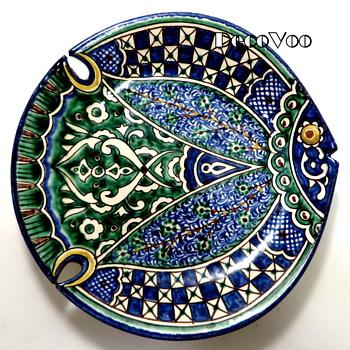 """Majolica? """"Fish"""" Plate 6"""" diameter - Pottery"""