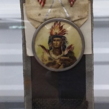 Local luloosa tribe Improved order of Red Men organization ribbon  - Medals Pins and Badges