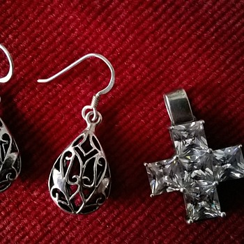 Sterling Silver, Pewter & Crystal Flea Market Finds