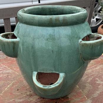 Art Pottery Strawberry Jar - Pottery