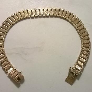 """Friedrich Speidel """"Bi-Metal"""" Double' Bracelet, 1940s (?) Flea Market Find - Fine Jewelry"""