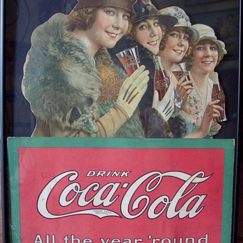 1923 Four Seasons Diecut Easel Back - Coca-Cola