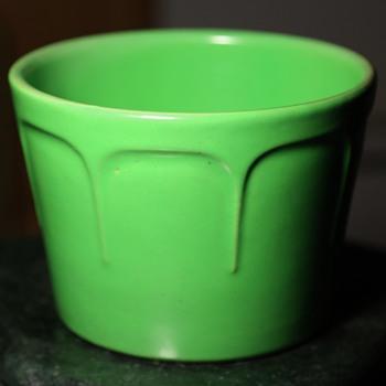 Matte Green Flower Pot - Pottery